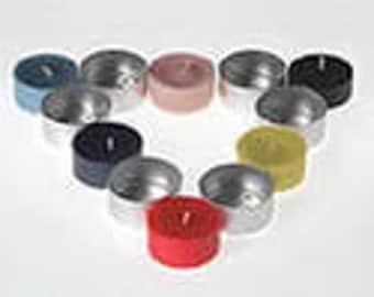 10 Pack Aluminum Tealight Molds