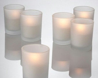 Frosted Votive Candle Holders