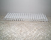 Lip balm tubes and caps - lot of 40 white