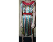 Handmade Ribbon Dress for Burlesque, Circus, or Vaudeville Costume