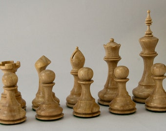 Hand Turned Wooden Chess Set