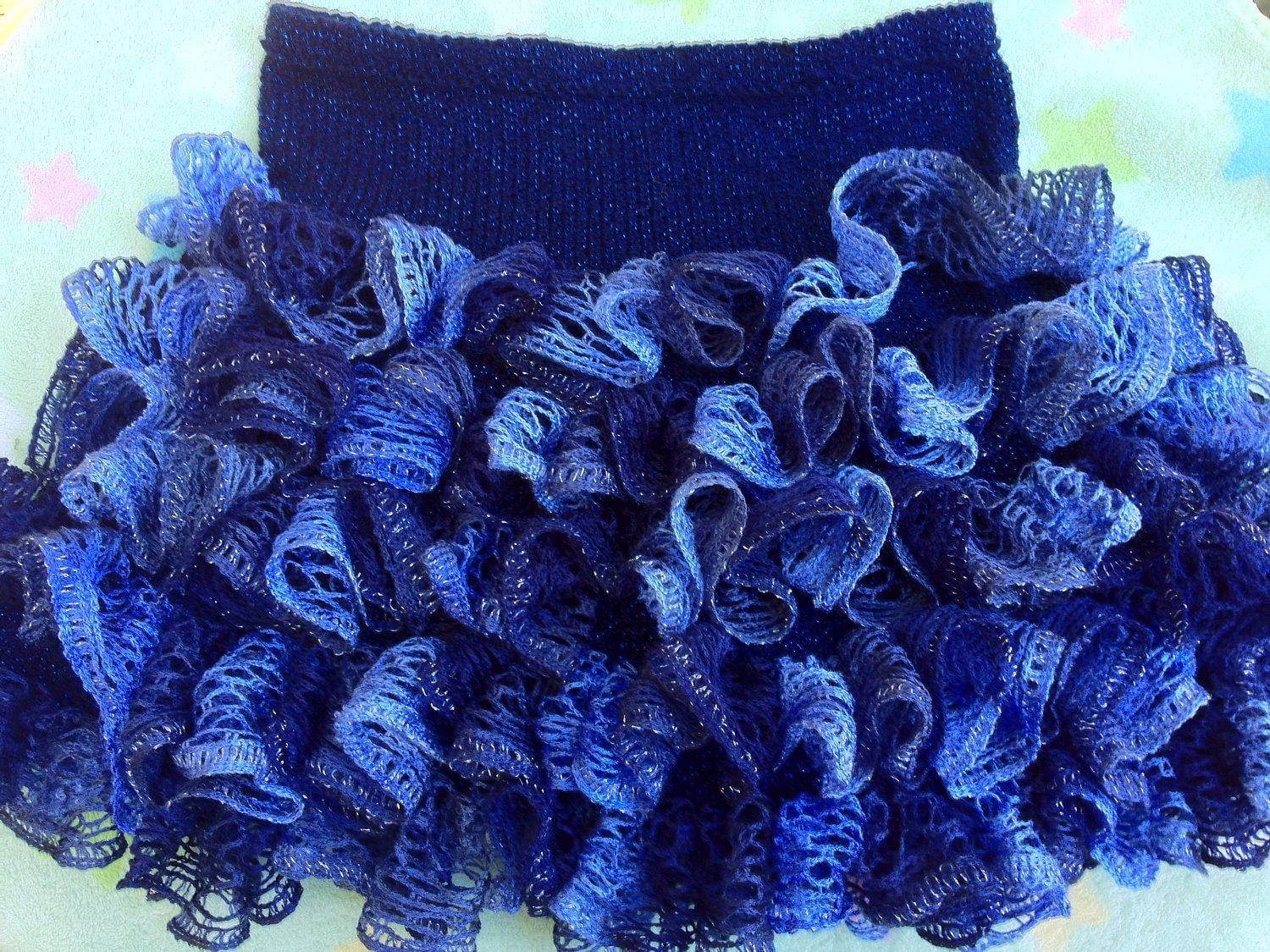 Free Crochet Patterns With Sashay Yarn : Glam Girl Short Ruffle Skirt Knitting Pattern