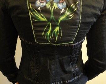 Hand Painted Snap Dragon Jacket