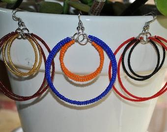 Gameday double-hoop earrings