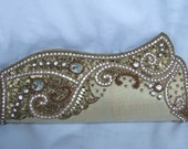 SALE Wedding Bridal Clutch Purse Handbag golden sequin crystal prom party accesorry Gift