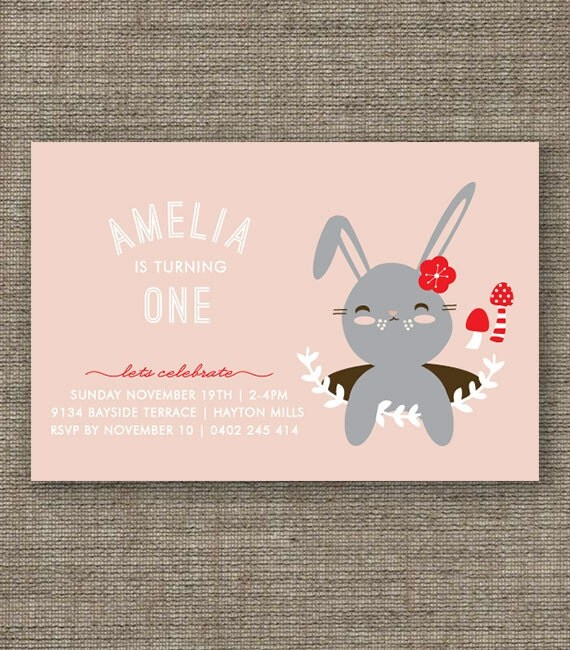 May The 4th Be With You Invitations: Items Similar To Bunny Rabbit Woodland Party Invitation