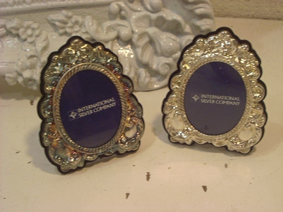 Vintage Silver Plated Ornate Frames