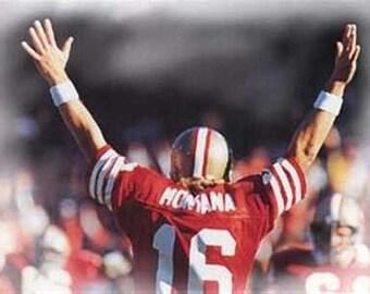 Great Joe Montana 49ers Art Lithograph