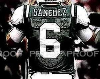 New mark Sanchez New York Jets Art Print LE 50 12x18