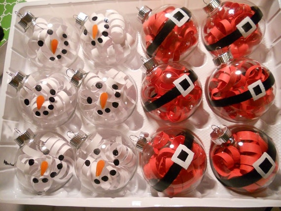 Items similar to christmas ornament on etsy for Clear christmas bulbs for crafting