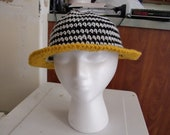 Tritoned Black White And Orange FULL BRIMMED Hat