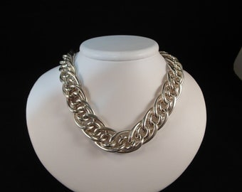 Bold and Beautiful Focal Lightweight Couture Sterling Silver Necklace