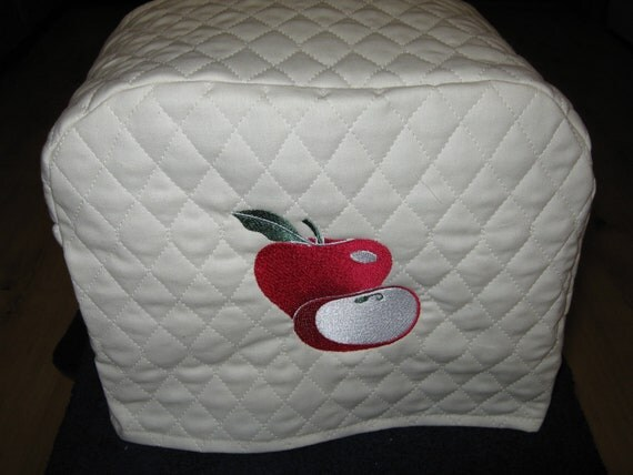 2 slice apple toaster cover by sewnbystacy on etsy. Black Bedroom Furniture Sets. Home Design Ideas