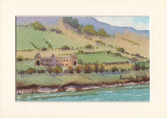 Original Watercolour.....Tintern Abbey on the Wye River