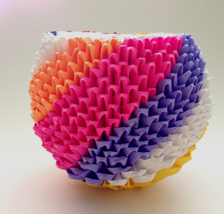 Vase 3d Origami Diagram
