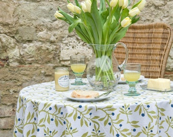 Olive Tablecloth - Round