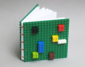 Handbound Coptic Stitch Green LEGO Book