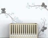 Baby Boys Wall Decal Tree Wall Sticker Decal Kids Room Decor - Koala Tree Branches by LittleLion Studio