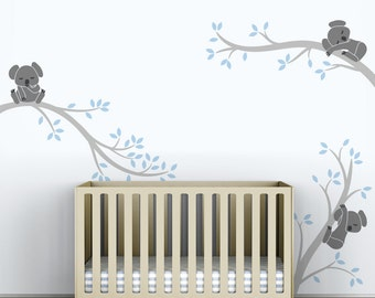 Baby Boys Wall Decal Tree Wall Sticker Decal Kids Room Decor - Koala Tree  Branches by LittleLion Studio