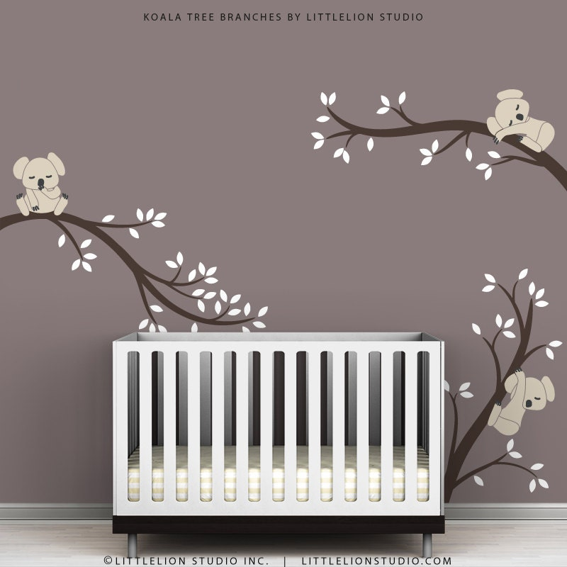 Kids wall decals modern cute baby room tree wall sticker for Baby room decoration wall stickers