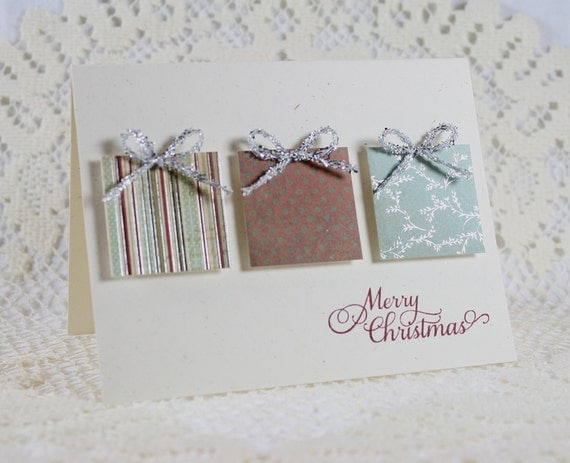 Handmade holiday christmas greeting card for How to make easy christmas greeting cards