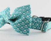 Blue and White Cute Dog Collar Adjustable