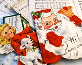 RESERVED for Happy To be Me -  Vintage Paper Ephemera - Christmas theme.