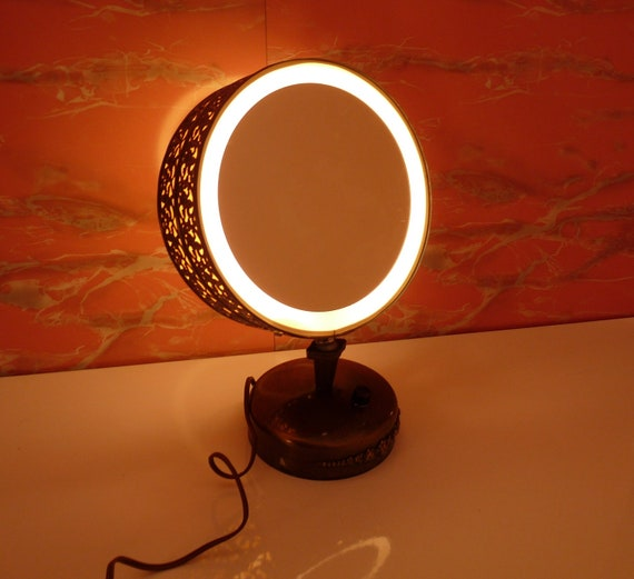 Vintage Casco Double Mirror Lighted Vanity Makeup Mirrorfree