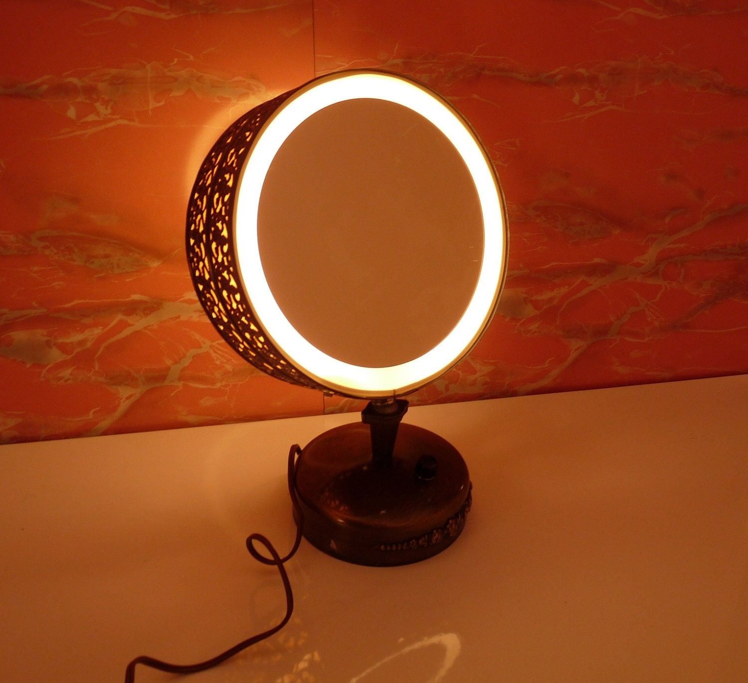 Vanity Mirror With Lights Etsy : Vintage Casco Double Mirror Lighted Vanity Makeup MirrorFREE