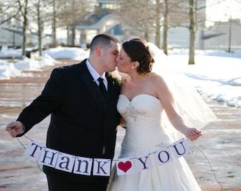 Thank You Banner, Thank You Wedding Sign, Wedding Thank You, Wedding Photo Prop, Wedding Signs, Red Wedding Decor