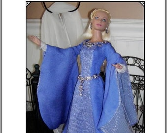 GUINIVERE A Pattern for Tonner Tyler, Gene and other 15-16 Dolls A classic gown for a Medieval Lady