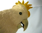 Cockatoo Handpuppet made from soft Latex