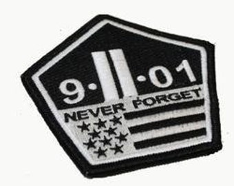 The Original 9/11 Never Forget Velcro Patch Morale Military Twin Towers