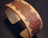 Oak And Black Walnut Veneer Laser Cut Bracelet