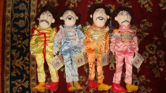Beatles Applause Sgt Pepper Dolls Set Of 4 By