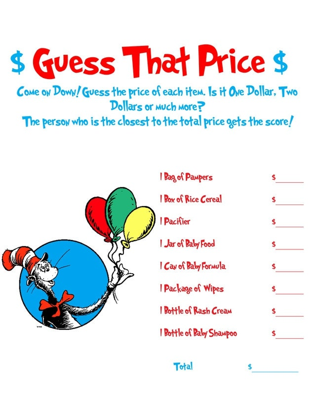 dr seuss baby shower game by allthingsparty on etsy