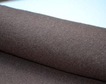 Chocolate Brown 100% Wool Felt