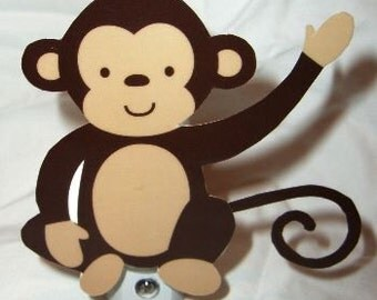 Adorable Jungle Monkey Play Nursery Night Light
