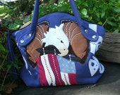 American flag, american icon, the eagle, hobo style handbag