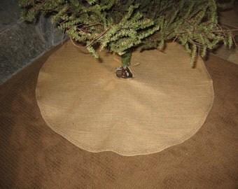 Primitive burlap Christmas Tree Skirt