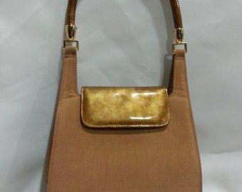 Tan Purse, Handbag, Vintage