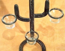 Saguaro Cactus Candle Holder made out of Horseshoes