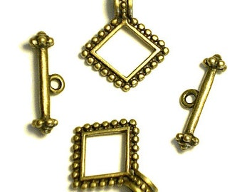 24X20X24MM Antique Bronze Plated Toggle Clasps A05474  12 Pairs   Free Shipping in US
