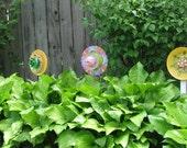 Recycled garden sun catchers