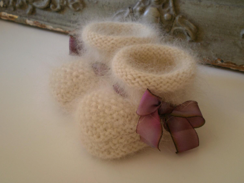 Angora Knitting Patterns : NEW 725 ANGORA BABY BOOTIES KNITTING PATTERN baby booties pattern
