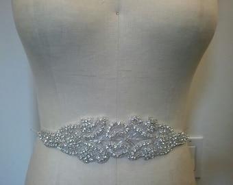SALE - Wedding Belt, Bridal Belt, Sash Belt, Crystal Rhinestone - Style B1001