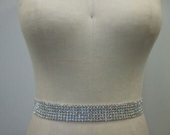 Wedding Belt, Bridal Belt, Sash Belt, Crystal Rhinestone - Style B137