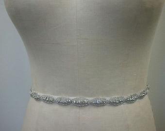 Bridal Belt, Wedding belt, Bridesmaid Belt, Party Belt, - Crystal Rhinestone Belt - Style B1021