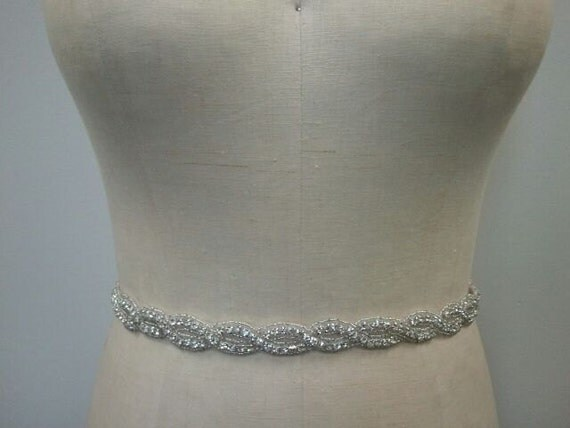 SALE - Wedding Belt, Bridal Belt, Sash Belt, Bridesmaid Belt, Crystal Rhinestone - Style B127