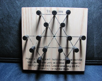Peg Solitaire Wooden Game